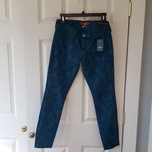 Lucky Brand Scroll Print Colored Jeans